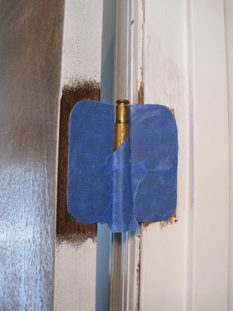Paint a Door Without Taking It Off The Hinges