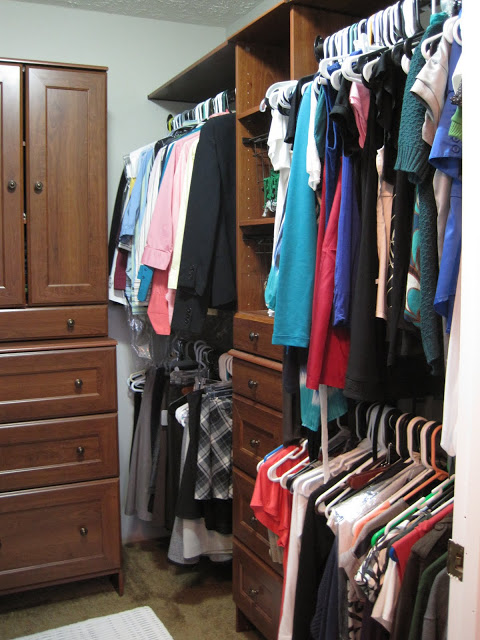 master bedroom closet organization system