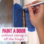How to Paint a Door (without taking it off the hinges)