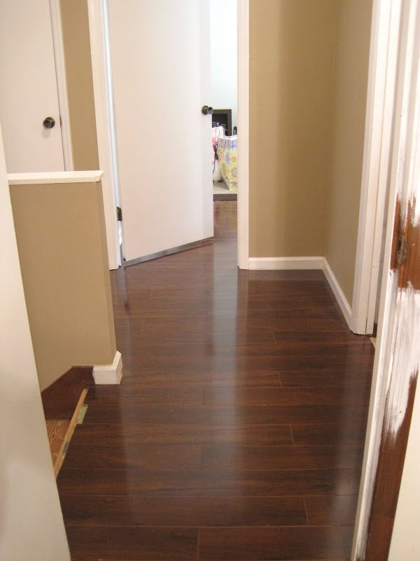 Upstairs Hallway Flooring Before And After Ugly