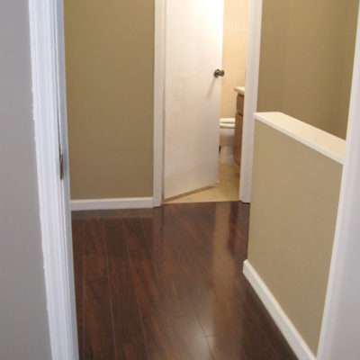 Upstairs Hallway Flooring: Before and After!