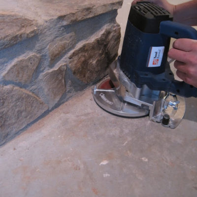 How to Cut Into A Stone Fireplace for New Flooring