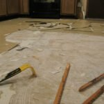 prying up linoleum