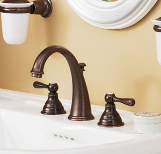 4 inch minispread sink faucets. 4  Minispread faucets are still compact like the centerset style above but spout is not visibly attached to hot and cold handles on either side Lingo Lesson Selecting a Faucet The Ugly Duckling House