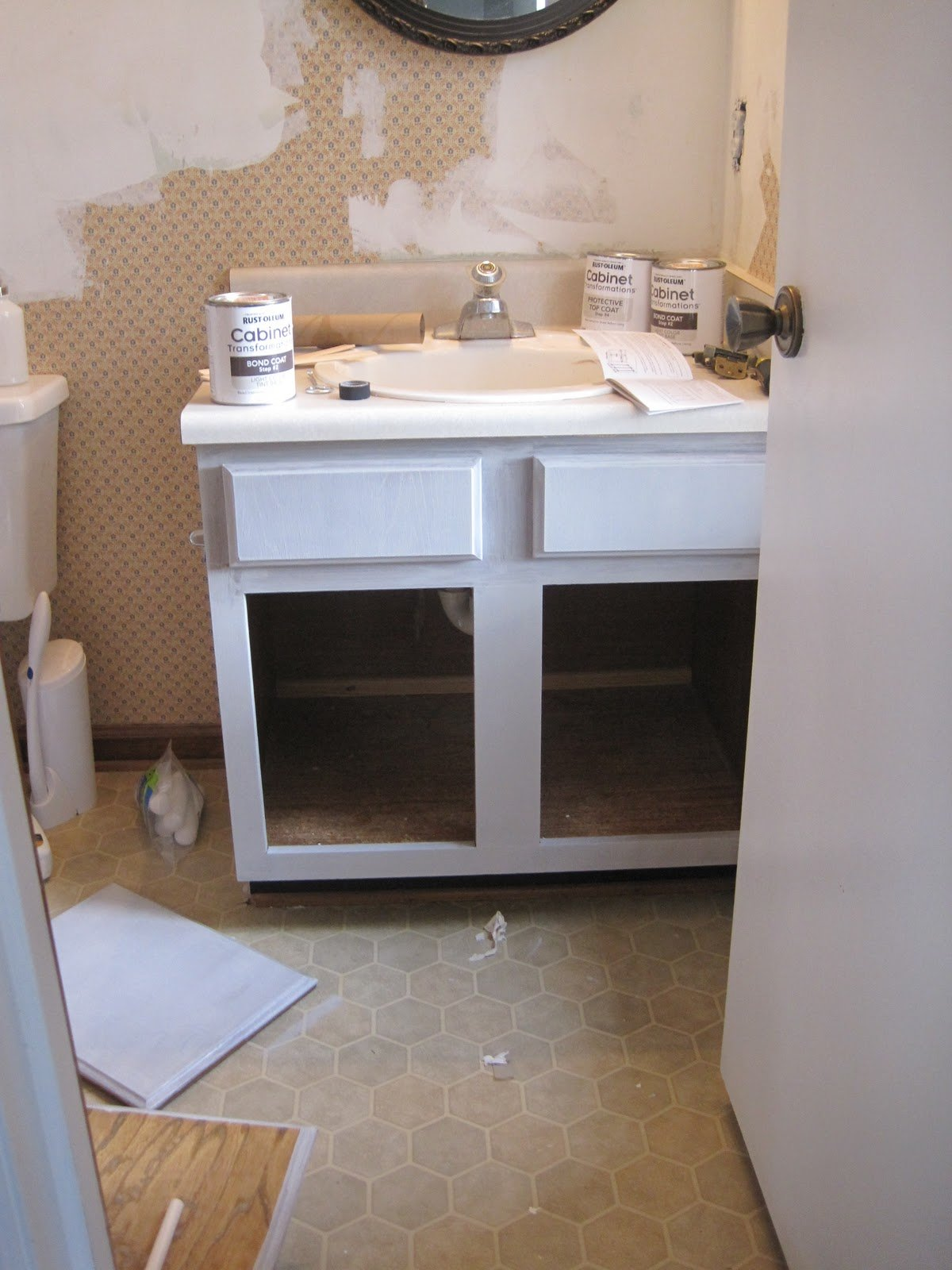 Painted Bathroom Cabinet Sneak Peek