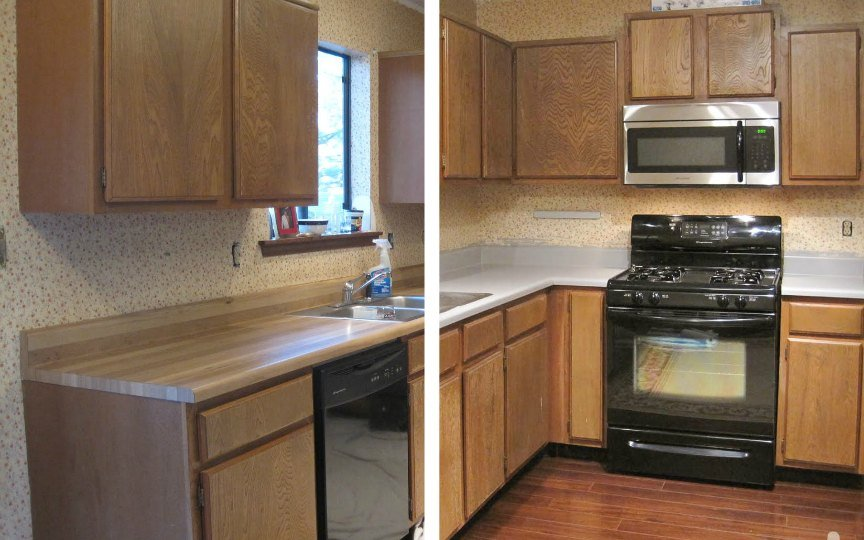 Before And After Painted Kitchen Countertops