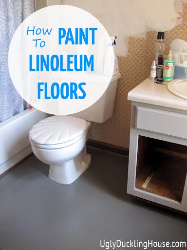 painted vinyl linoleum floors ugly duckling house. Black Bedroom Furniture Sets. Home Design Ideas