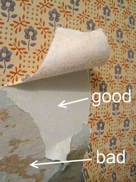 good vs bad examples of removing wallpaper