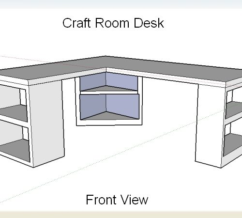 Craft Room Desk Design – Take Two