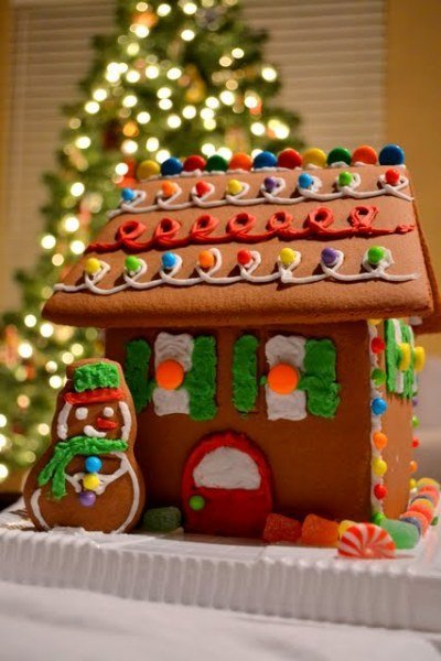 Working on a Winter Wonderland: Gingerbread House