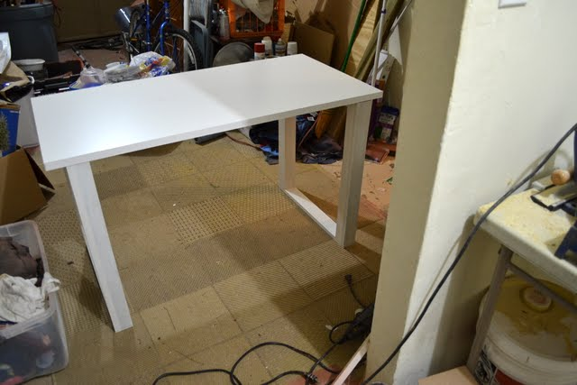 DIY Desk Progress: Day 2