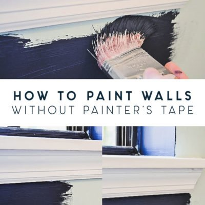 How to Paint Straight Lines Without Painter's Tape