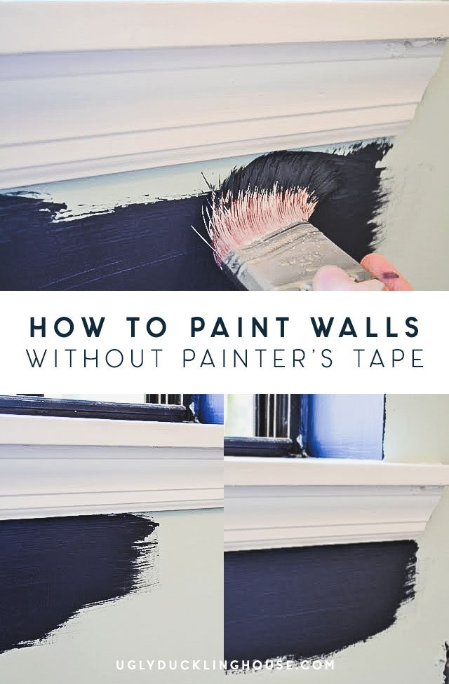 how to paint walls without painter's tape