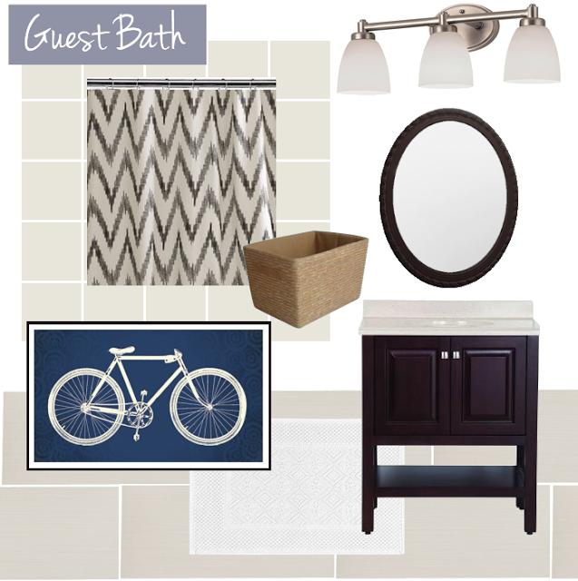 Guest Bath Mood Board