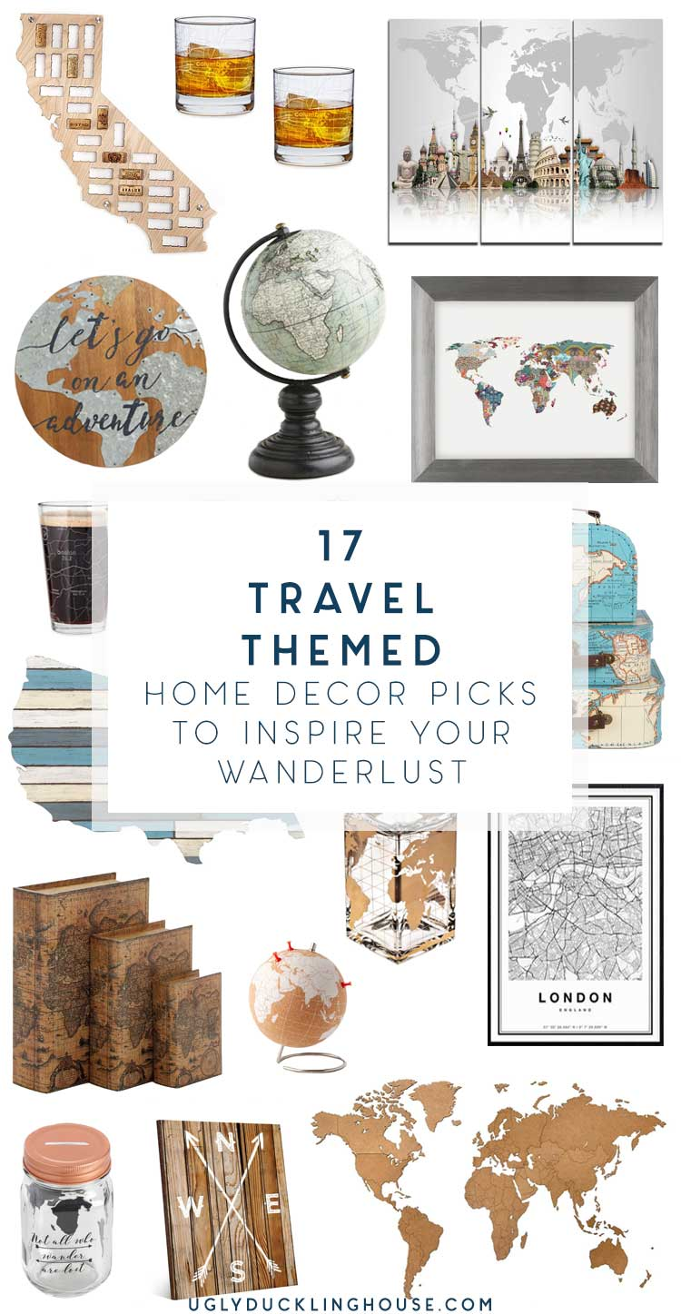 Map and Travel Themed Home Decor to Express Your Wanderlust