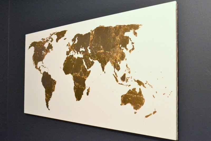 Wall Decor Gold Leaves : Challenge gold leaf map art the ugly duckling