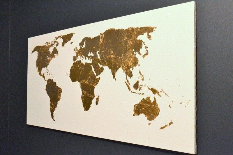 Pinterest Challenge Gold Leaf Map Art The Ugly Duckling