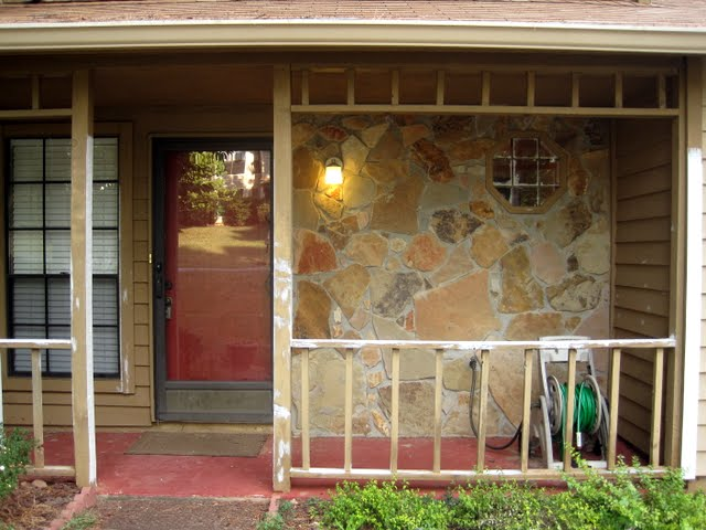front porch before - humble beginnings circa 2011