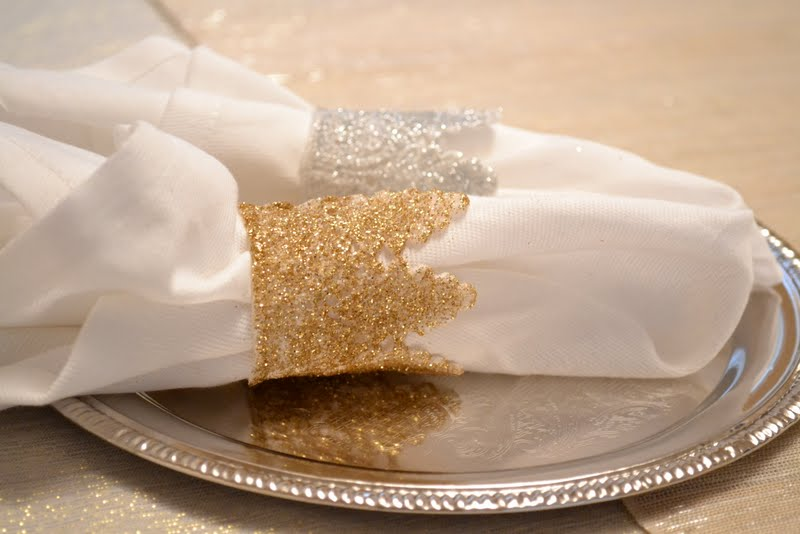 Glitter lace napkin rings ugly duckling house glitter lace napkin rings solutioingenieria Choice Image