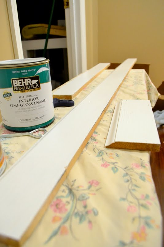 painting old baseboards