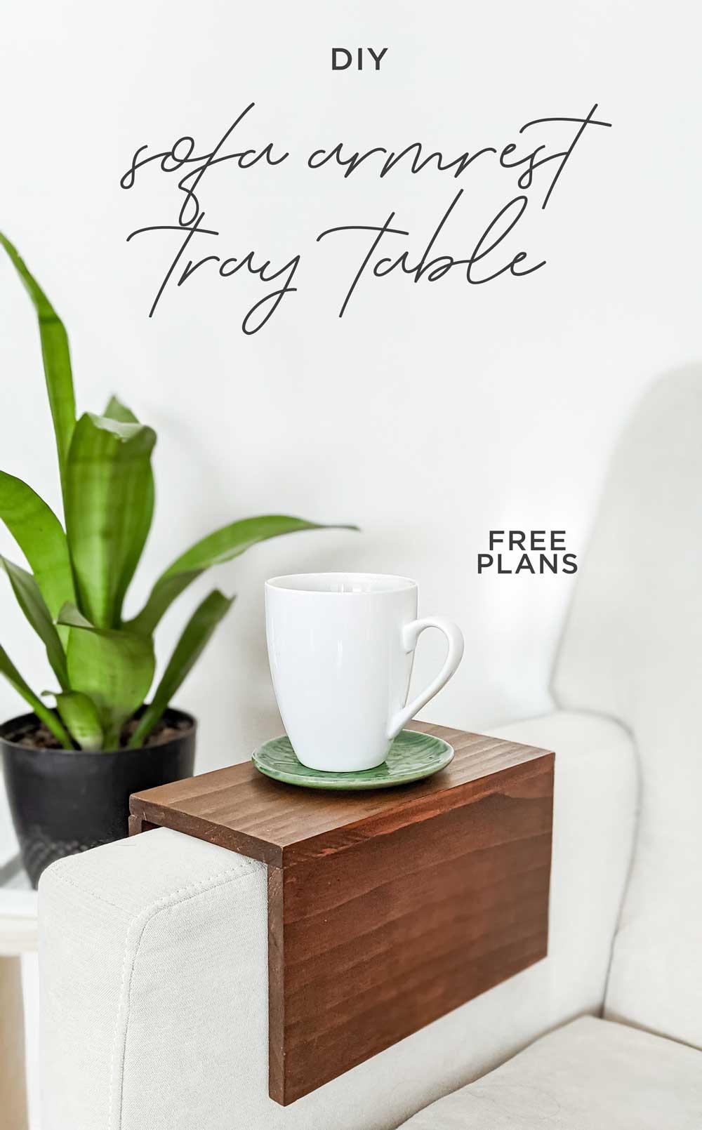 diy sofa armrest tray table