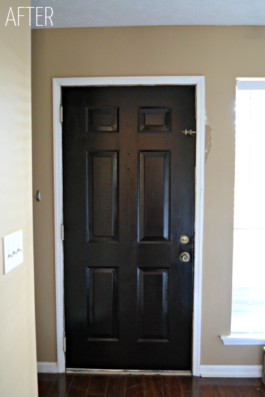 How to paint a paneled door ugly duckling house - Sophisticated black interior doors ...