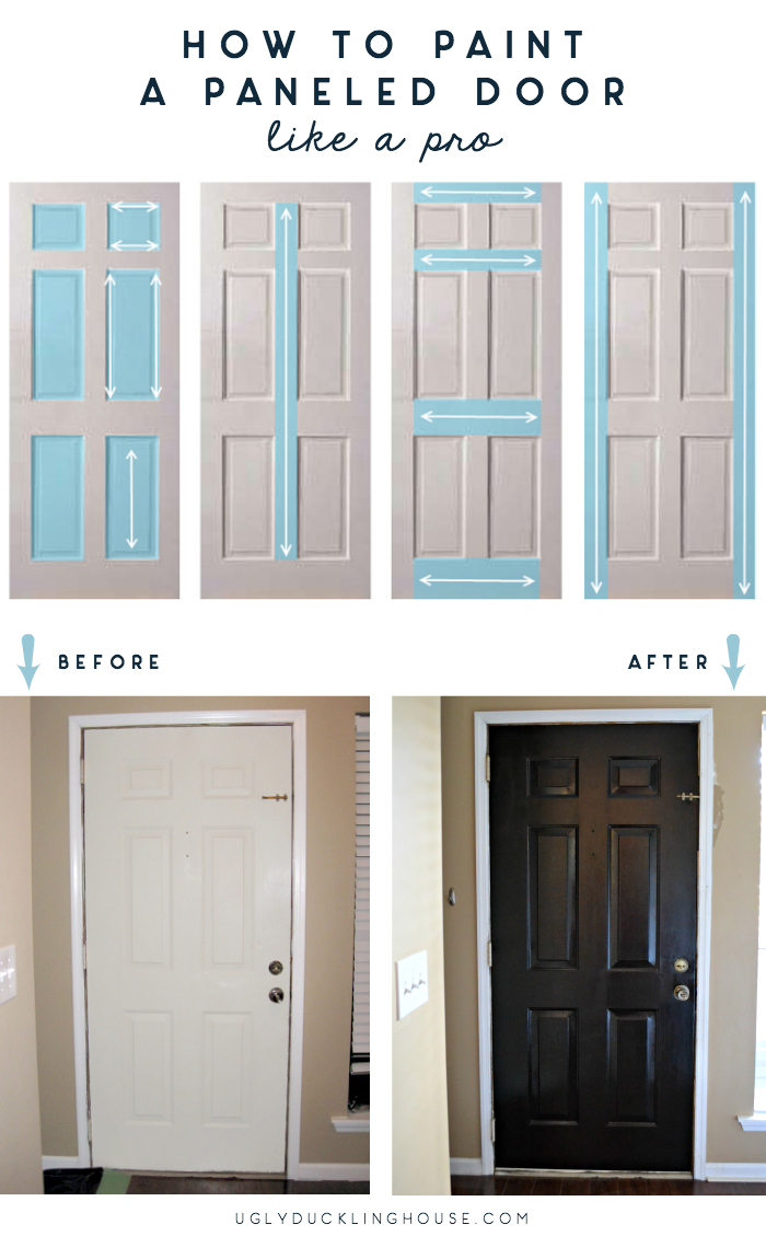 How To Paint A Paneled Door Ugly Duckling House