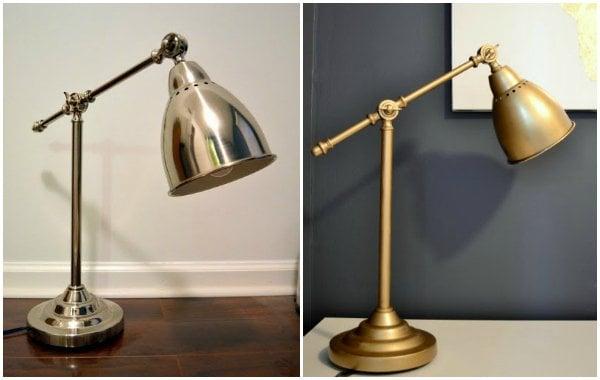 ikea hack lamp for the office. Black Bedroom Furniture Sets. Home Design Ideas