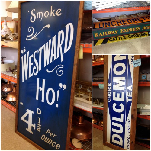 Habitat Restore old signs