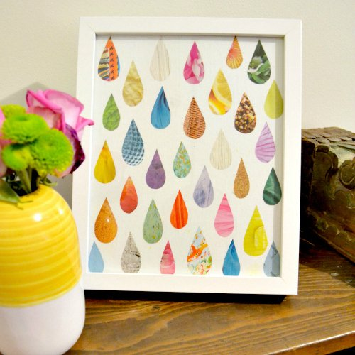 Make Easy Raindrop Art from an Old Magazine • Ugly Duckling House
