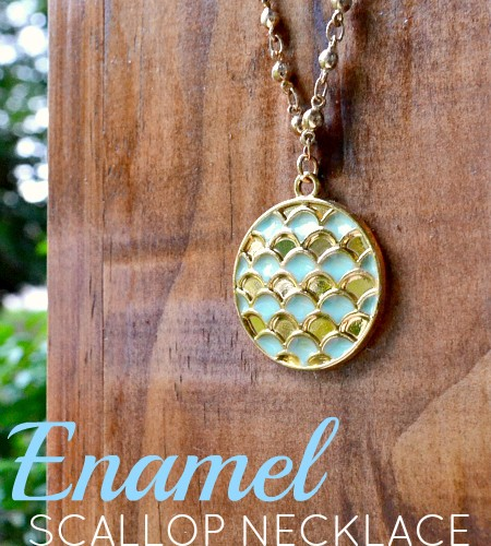 DIY Enamel Scallop Necklace