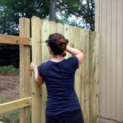 how to install a wooden fence