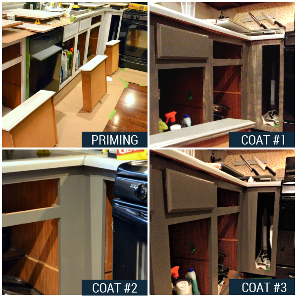 Kitchen 2013: The Final Coat on the Base Cabinets