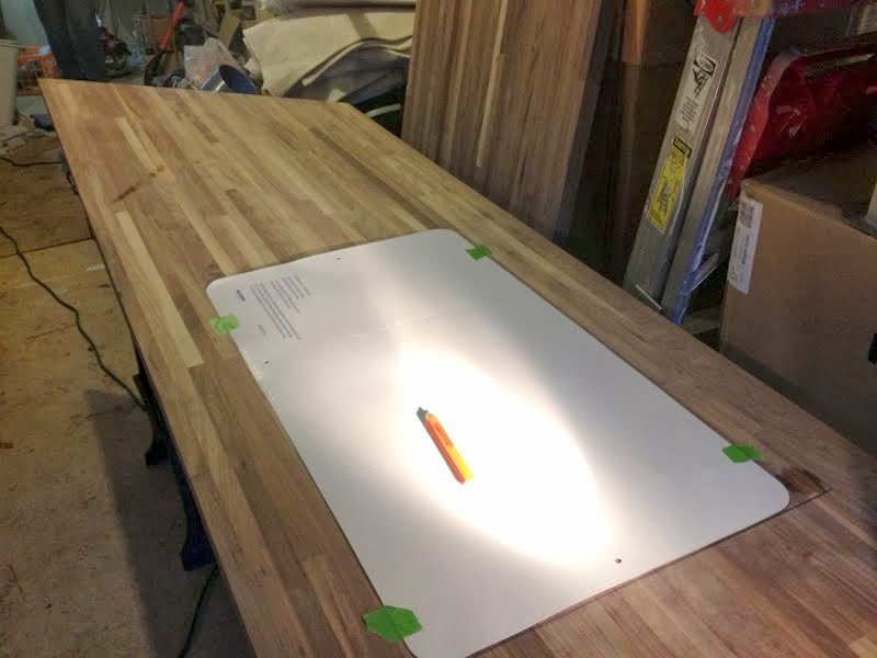 template butcher block undermount sink