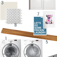 laundry room mood board