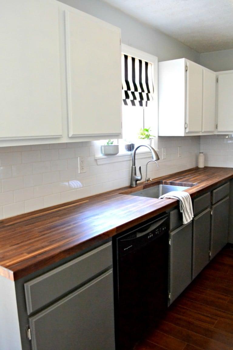kitchen makeover progress left side