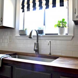 sink closeup in kitchen
