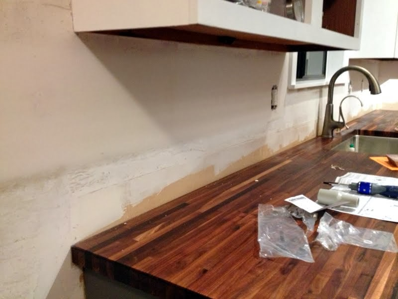 How To Prep Kitchen Walls For A Tile Backsplash Ugly Duckling House