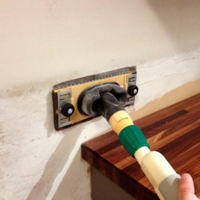 drywall sanding kit to rough up drywall for tile backsplash to adhere to