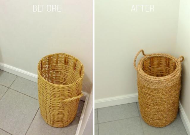 before after basket