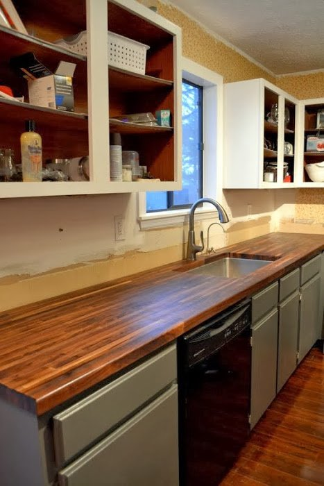 Dueling DIY: Re-Installing the Lower Cabinets
