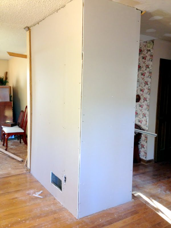 Diy Drywall Over Wood Paneling At Mom And Dads Ugly Duckling House