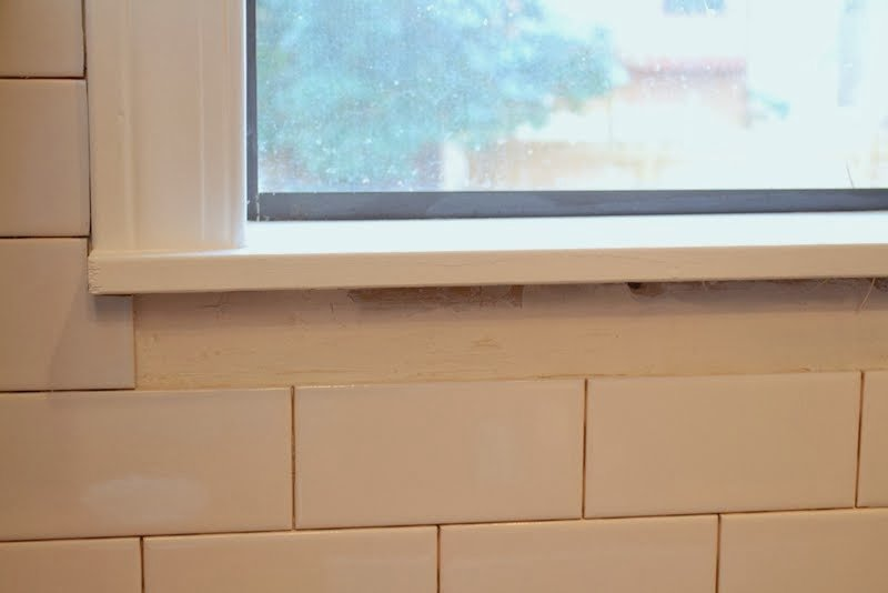 Kitchen Backsplash Around Window how to add a tile backsplash in the kitchen – the ugly duckling house
