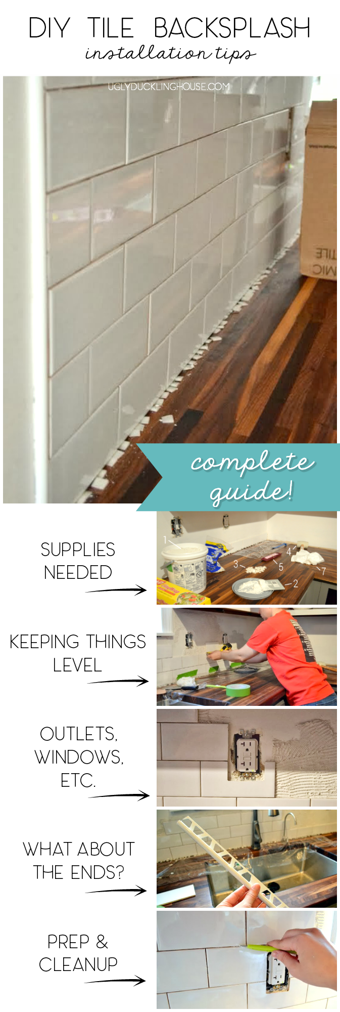 diy tile backsplash tutorial complete guide