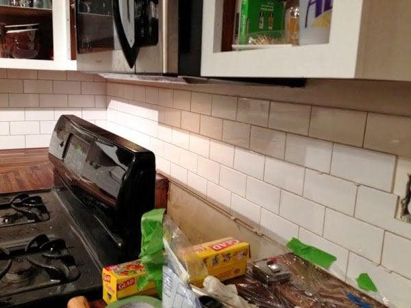 Dueling DIY: Three Tiled Walls