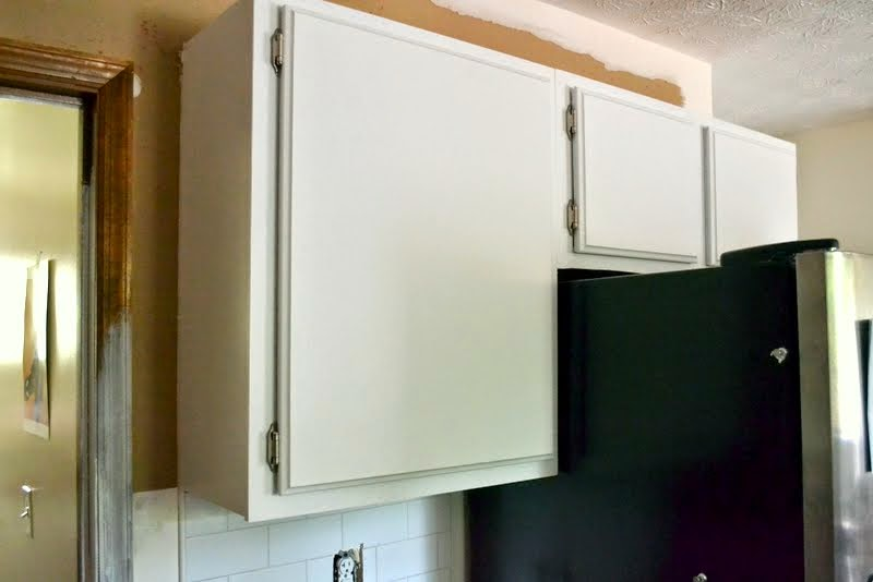white upper cabinet doors