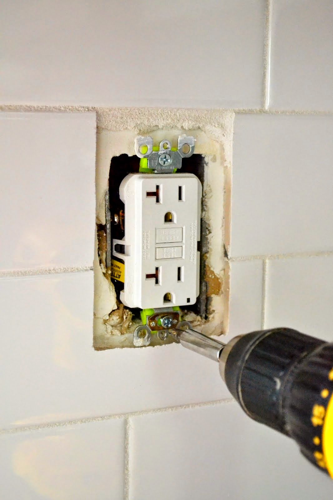How To Extend An Outlet After Tiling And Fix A Loose Wiring Old Then You Put The Face Plates Back On Each Youre Done