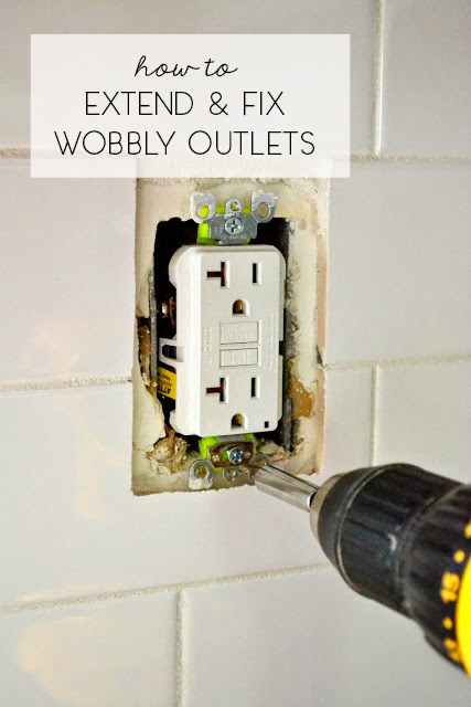 extend and fix a wobbly outlet