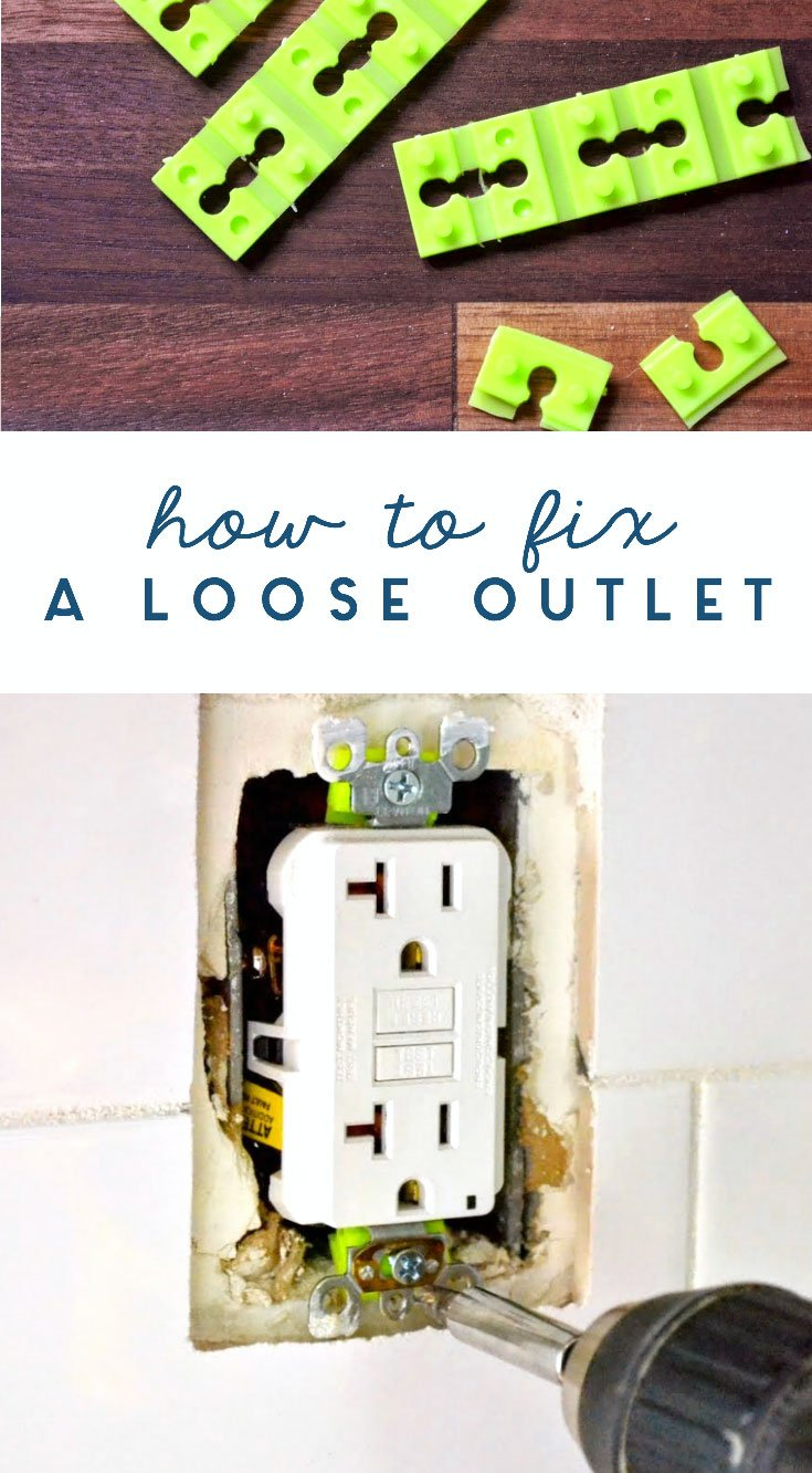 how to fix a loose or wobbly outlet
