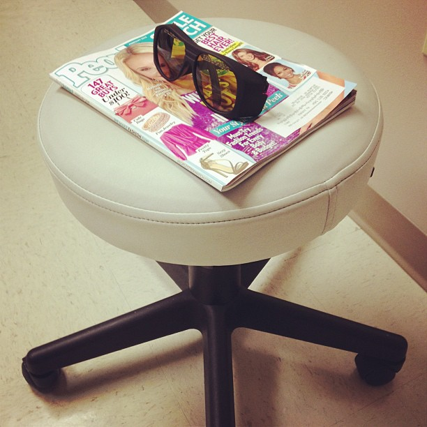laser hair removal stool